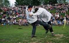 Shin-kicking, also known as hacking or purring, is a combat sport that involves two contestants attempting to kick each other on the shin to force their opponent to the ground. It originated in England in the early 17th century, and was one of the most popular events at the Cotswold Olimpick Games until the games ended in the 1850s. Download nextbelt on App Store and run your dojo on-the-go http://thenextbelt.com/fb.html