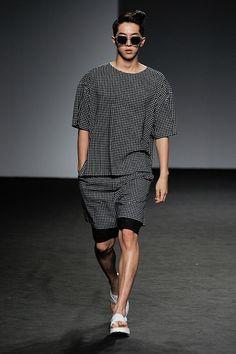Nam Joo Hyuk at J Koo Spring 2015 Seoul Fashion Week