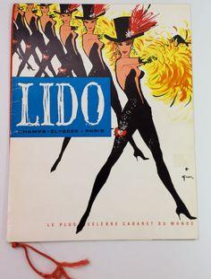 Vintage Lido de Paris Champs-Elysées, 1962 Program Cabaret Show