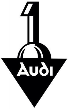 Audi's first logo, when it was founded in 1909, was an upside-down triangle with a #1 on top of it, obviously drawing attention to the company's self-proclaimed superiority.