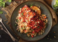 Thai Pineapple Salmon with Sweet Chili-Hoisin Rice from Publix Aprons