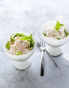 Salmon and horseradish cream