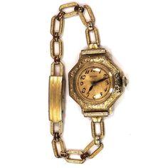14k Gold Late Victorian 15 Jewel Ladies Elgin Wrist Watch