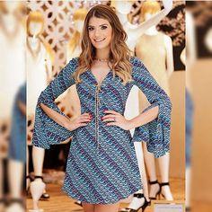 WEBSTA @ arianecanovas - Vestido estampado @esmeral_loja porque o verão pede!!  • #lançamentoesmeral #verao16 #blogtrendalert