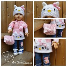 Hello Kitty complete outfit clothes for 18 inch doll american girl doll handmade by AvaDeenaDesigns on Etsy