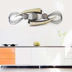 e-Home®+metal+væg+kunst+væg+udsmykning,+det+tredimensionale+mønster+væg+udsmykning+én+pcs+–+DKK+kr.+1.555