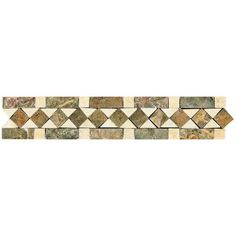 This stone decorative wall accent features a beautiful geometric pattern and warm tones to complement your tile design.