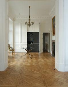 Houten vloer in Versailles patroon, inspiratie BVO Vloeren, houten vloeren en parket in Breda...