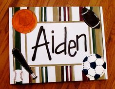 Sports Boy Personalized Original Painting Canvas Baseball