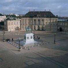 Amalienborg, The royal castle, Copenhagen, Denmark.