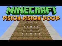 Minecraft: Piston Piston Door Tutorial - YouTube