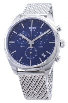 Tissot T-Classic PR 100 Chronograph Men's Watch Stainless Steel Bracelet, Stainless Steel Case, Kids Branding, Chronograph, Omega Watch, Watches For Men, Quartz, This Or That Questions, Classic