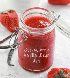 Strawberry Vanilla Bean Jam... Fresh from the California fields.