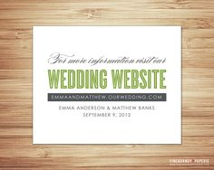 Wedding Website Insert For Invitation Instead Of Layers Of Inserts