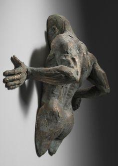 Sculptures Stuck in Walls by Matteo Pugliese