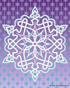 Celtic knotwork snowflake --This world is really awesome. The woman who make our…