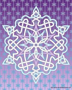 Celtic knotwork snowflake