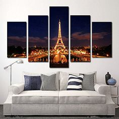 Bring the romance of Paris to you by adding some trendy Paris themed home decor.  As you know Paris is absolutely beautiful all times of year because it symbolizes love and romance.  With this in mind it is easy to transform your home into a magical romantic paradise.    Also can be under:    paris room wall decor  paris room decorations  paris themed home decor  paris themed decor  eiffel tower room decor  eiffel tower bedroom decor  eiffel tower wall decor      H.COZY - art on canvas 40*24