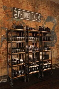 via barbershop.shcheg… Related Hair Salon Ideas wine bar PiraeusBarber Vest in Canvas Cream Color with Leather Pockets and Straps Barber Shop Interior, Barber Shop Decor, Barber Shop Vintage, Deco Pizzeria, Retail Shelving, Shop Shelving, Shelving Ideas, Shelf Ideas, Display Shelves