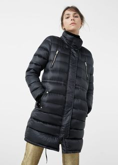 Water-repellent feather coat - Coats for Woman Fast Fashion, Fashion 2017, Feather Coat, Mango Outlet, Coats For Women, Winter Jackets, Lady, Clothes, Style