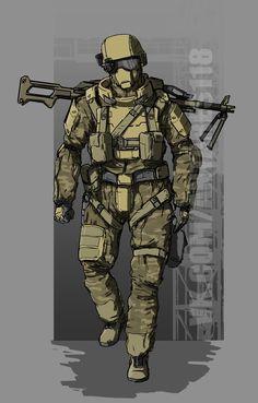 #concept #soldier #armor #weapon #camo