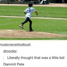 I was really confused i was sitting there thinking that is a kid what are they talking about.Oh Pete