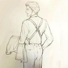 ちょっと疲れた後ろ姿が これまた色っぽかったりな 中年紳士 #イラスト #illustration #drawing #オヤジ #背中 #もと #もとp fukudamotoko 2016/08/17 16:29:31