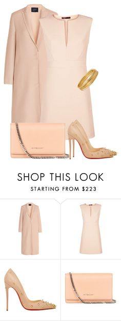 """""""blush"""" by jana-zed ❤ liked on Polyvore featuring Lanvin, Maje, Christian Louboutin, Givenchy, Bold Elements and Louboutin"""