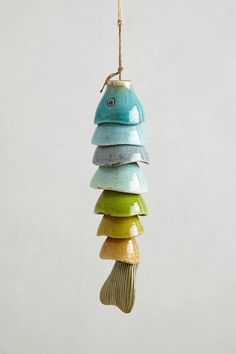 Good Cost-Free Slab pottery wind chimes Style Coldwater Catch Wind Chime – anthropologiecom Saw this tutorial on making one out of leftover eas Pottery Wheel, Slab Pottery, Ceramic Pottery, Pottery Art, Ceramic Art, Pottery Sculpture, Pottery Houses, Hand Built Pottery, Pottery Mugs