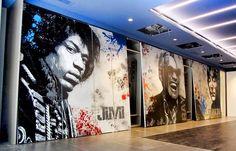"""Alessio-B """"Jimi.Ray.John. ..!! #alessiob71 #alessiob #padovastreetart #padova #instapadova #instagood #love #music #rock #graffitiprints #streetart #urbanart #pochoir"""" 10/10/15"""
