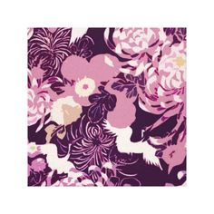 #Vintage Pink purple flowers and birds Gallery Wrapped #Canvas by #PLdesign #VintageFlowers #VintageFloral