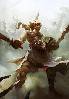 Gods of the arena , Sébastien Brunet on ArtStation at https://www.artstation.com/artwork/qQnJN