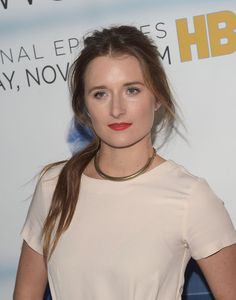 "Actress Grace Gummer attends the premiere of HBO's ""Newsroom"" Season 3 at Directors Guild Of America on November 4, 2014 in Los Angeles, California."