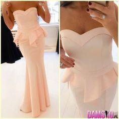 cute bridesmaid dresses long | dresses sweetheart bridesmaid dresses preplum peach bustier cute dress ...