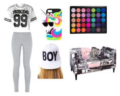 """ForeverAlone"" by michelle-jovanovic ❤ liked on Polyvore featuring NIKE, BOY London and Skyline"