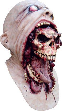 Dit bloederige doodskop masker voor volwassenen zal perfect zijn om uw Halloween kostuum als eng skelet compleet te maken! - Nu verkrijgbaar op Vegaoo.nl