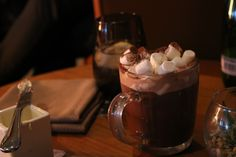 The yummiest hot chocolate at The Dormy Club House, Gleneagles Hotel, Scotland. Can't get enough hygge! Hygge, Hot Chocolate, Scotland, Pudding, Club, Canning, Tableware, Desserts, Food