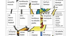 Liikunta-bingo.docx Pe Lessons, Pinterest Photos, Occupational Therapy, Activities For Kids, Bingo, Education, School, Opi, Ideas