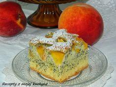 Jednoduchý, ale výborný koláč s ovocím a makom. Cherry Recipes, My Recipes, Sweet Recipes, Czech Recipes, Apple Pear, Ale, French Toast, Muffin, Sweets