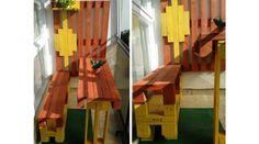 Színes raklap panel terasz - RAKLAP BÚTOROK - Raw Bútor | Raklap, antik, gyermek bútorok