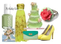 """my wedding colors"" by tabitha-escoe ❤ liked on Polyvore featuring Giambattista Valli, Fab., Essie, Martha Stewart, Laurafallulah and Chloé"