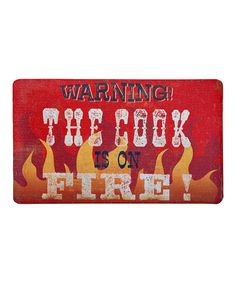 Take a look at this 'Cook is on Fire' Outdoor Doormat by Mohawk Home on #zulily today!