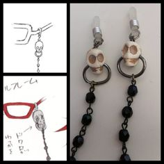 Grell Sutcliff's glasses' chain WIP