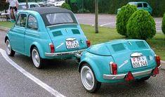 Fiat 500 with cute trailer ♥ App for Fiat ★ Fiat Warning Lights guide, is now in App Store it Fiat 600, Fiat Cinquecento, Fiat Abarth, Ferrari 458, Vespa, Kombi Trailer, Automobile, Fiat Cars, Microcar