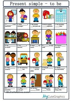 A simple worksheet to practise the present simple of the verb to be. - ESL worksheets