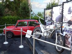 Mini Cooper and Motorbike from The Bourne movies