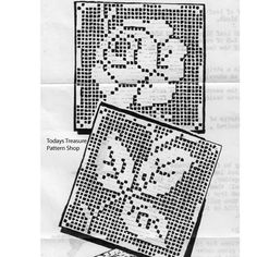 Filet Crochet square tablecloth pattern in rambling rose square motifs. Martha Madison a Mail Order Pattern Crochet Blocks, Crochet Borders, Crochet Squares, Filet Crochet, Crochet Patterns, Crochet Tablecloth Pattern, Crochet Bedspread, Vintage Knitting, Vintage Designs