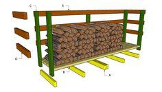 * Pallet Firewood Rack Plan   -  #palletprojects  ---  #pallets   ----   http://alittlebitofthisthatandeverything.blogspot.com/