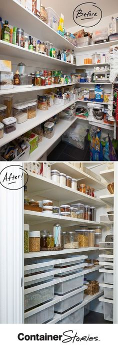 Don't you just love before and afters? See how elfa transformed Stephanie's pantry.