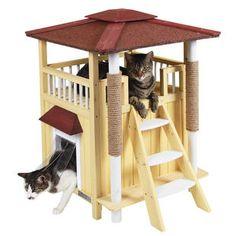 Kattenhuis Toskana.Het kattenhuis Toskana is het perfecte huis voor elke kat. Met uitkijkplatform, krabpalen en gevoerde...